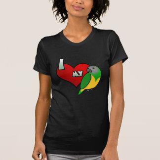 Amo mi camisa de las señoras Twofer del loro de