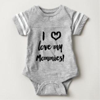 Amo mi camisa del jersey del bebé de las mamás