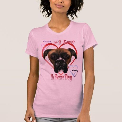 Amo mi camisa del perro del boxeador