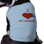 Amo mi camisa del perro del corazón del arco iris  camisas de perritos