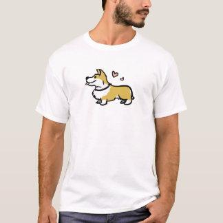 Amo mi camisa para hombre del corgi