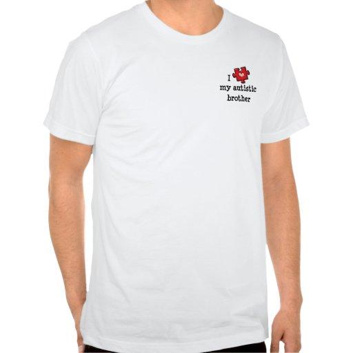 Amo mi camiseta autística de Brother
