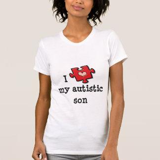 Amo mi camiseta autística del hijo poleras