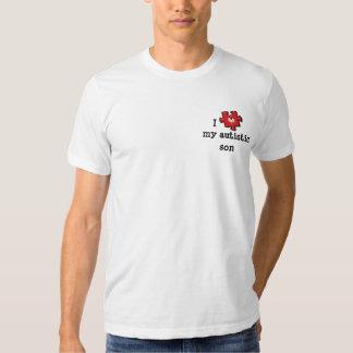 Amo mi camiseta autística del hijo remeras