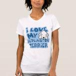 Amo mi camiseta de Bedlington Terrier