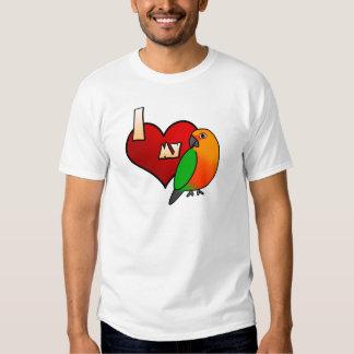 Amo mi camiseta de Jenday Conure Poleras