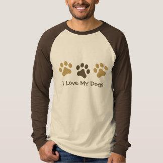 Amo mi camiseta de la impresión de la pata de los playeras