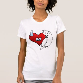Amo mi camiseta de las señoras del Cockatoo del Playera