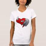 Amo mi camiseta de las señoras del gris africano