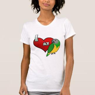 Amo mi camiseta de las señoras del loro de Senegal Playera