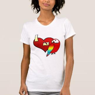 Amo mi camiseta de las señoras del Macaw del Playeras