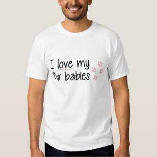 Amo mi camiseta de los bebés de la piel polera