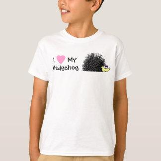Amo mi camiseta de los chicas del erizo