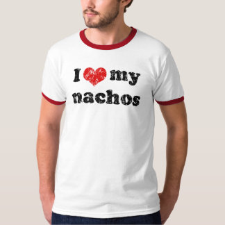 Amo mi camiseta de los nachos playera