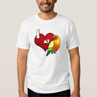 Amo mi camiseta de Sun Conure Playeras