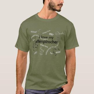 Amo mi camiseta del affenpinscher