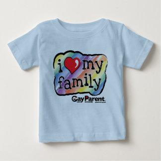 Amo mi camiseta del arco iris de la familia