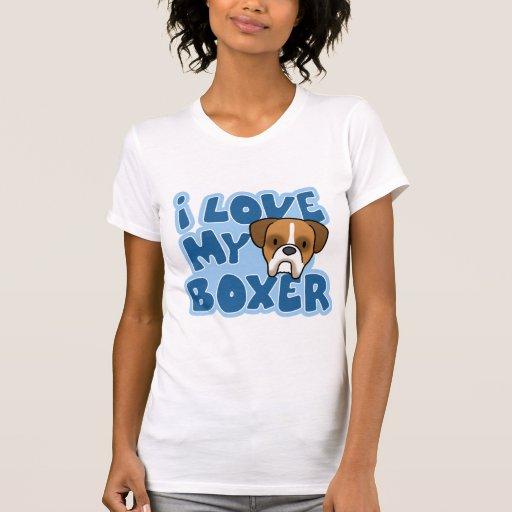 Amo mi camiseta del boxeador