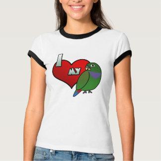 Amo mi camiseta del campanero de las señoras de playeras