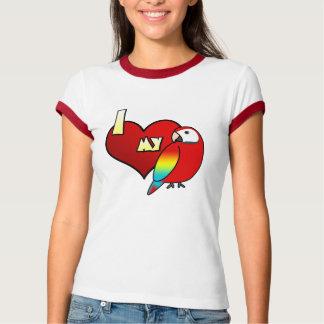 Amo mi camiseta del campanero de las señoras del playera
