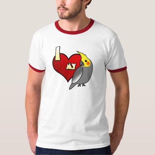 Amo mi camiseta del Cockatiel Playera
