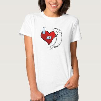 Amo mi camiseta del Cockatoo del paraguas Playeras