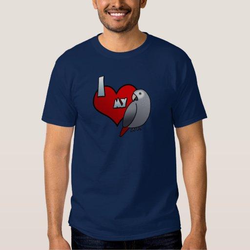 Amo mi camiseta del gris africano de Timneh Remera