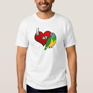 Amo mi camiseta del loro de Senegal Playeras