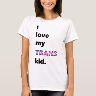 Amo mi camiseta del niño del transporte