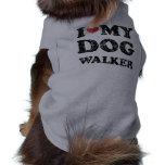 Amo mi camiseta del perro del caminante del perro camisa de mascota