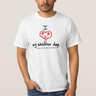 Amo mi camiseta del perro del refugio polera