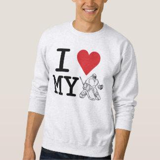 Amo mi camiseta del portero (el hockey)