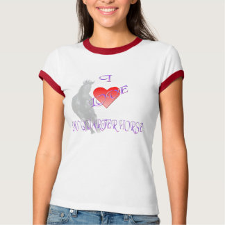 Amo mi camiseta del Quarterhorse Playera