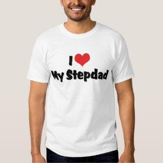 Amo mi camiseta del Stepdad Polera