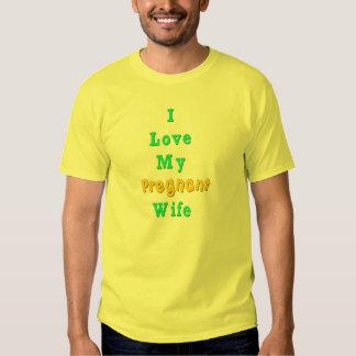 Amo mi camiseta embarazada de la esposa camisas