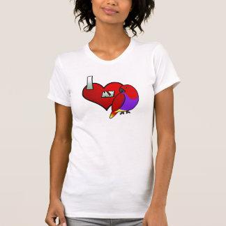 Amo mi camiseta femenina de Vosmaeri Eclectus Remera