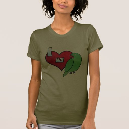 Amo mi camiseta india de la gallina del Parakeet Playeras