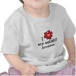 Amo mi camiseta infantil autística de Brother