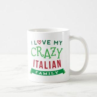 Amo mi camiseta italiana loca Ide de la reunión de Taza De Café