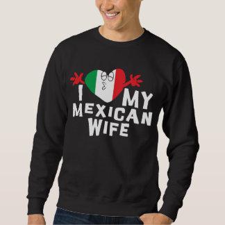 Amo mi camiseta mexicana de la esposa sudaderas encapuchadas