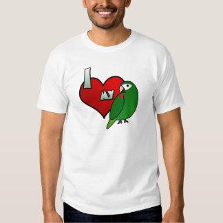 Amo mi camiseta noble del Macaw Playeras