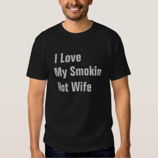 Amo mi camiseta para hombre de la esposa caliente remeras
