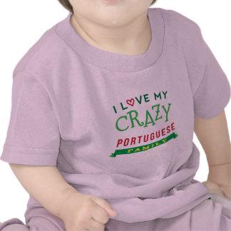 Amo mi camiseta portuguesa loca de la reunión de f