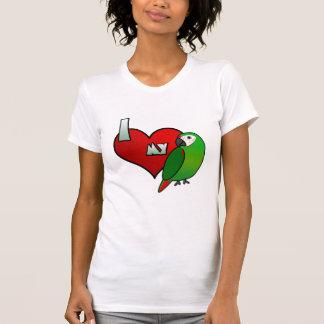 Amo mi camiseta severa de las señoras del Macaw Playeras