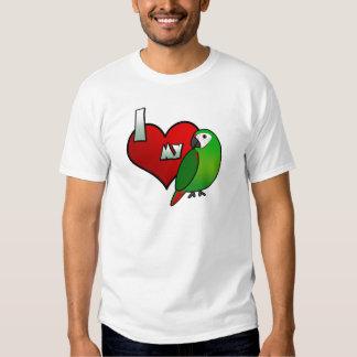 Amo mi camiseta severa del Macaw Poleras