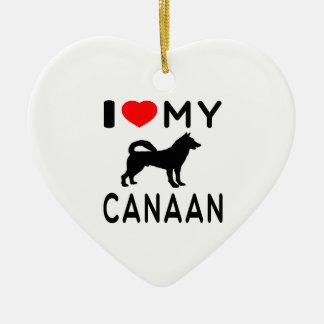 Amo mi Canaan Adorno De Cerámica En Forma De Corazón