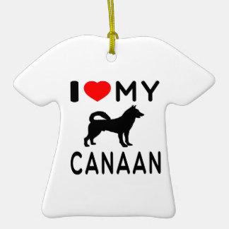 Amo mi Canaan Adorno De Cerámica En Forma De Playera