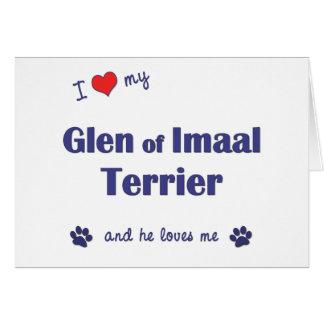 Amo mi cañada de Imaal Terrier (el perro masculino Felicitación