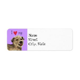 Amo mi cañada de Imaal Terrier Etiquetas De Remite