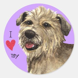 Amo mi cañada de Imaal Terrier Pegatina Redonda
